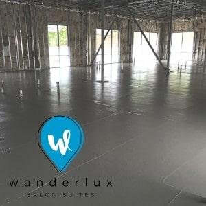 wanderlux concrete poured